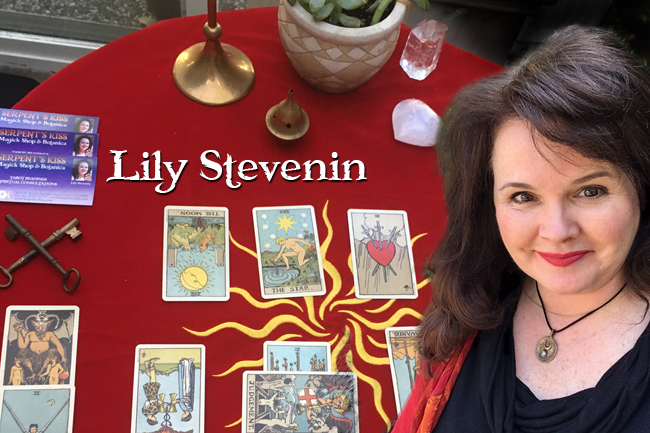 Lily Stevenin Tarot Readings at the Serpent's Kiss