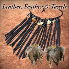 Jewelry - Leather, Feather & Tassles