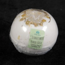 Coconut Milk CBD Bath Bomb with Crystal