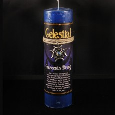 Celestial Crescent's Rising Candle with Pendant