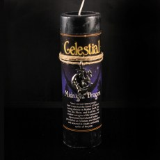 Celestial Midnight Dragon Candle with Pendant