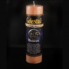 Celestial Windblown Candle with Pendant