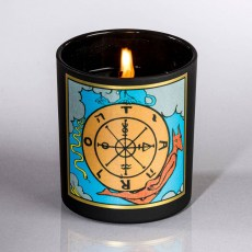Wheel of Fortune Soy Tarot Candle