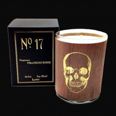 Wood-wrap Scented Candle Large - SKULL