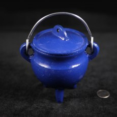 Blue Cast Iron Cauldron - Small