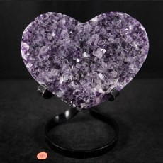 Amethyst Heart 7 with Stand