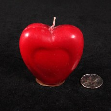 Heart Candle Red