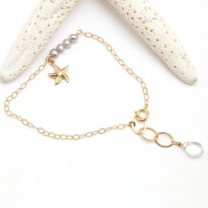 Pearl and Quartz Starfish Bracelet