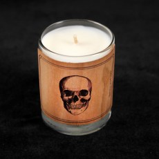 Wood-wrap Scented Candle Skull